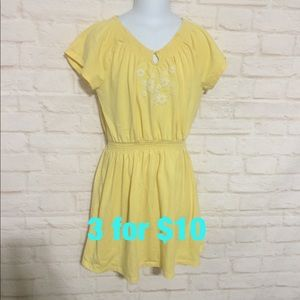 Gap kids yellow shirt sleeve dress 10